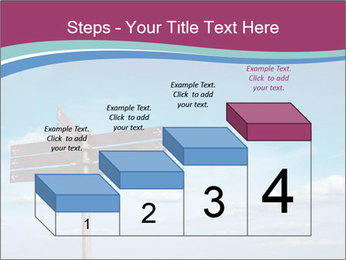 Blank signpost in sky PowerPoint Templates - Slide 64