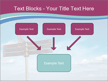 Blank signpost in sky PowerPoint Templates - Slide 70