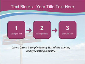 Blank signpost in sky PowerPoint Templates - Slide 71