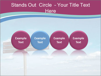Blank signpost in sky PowerPoint Templates - Slide 76