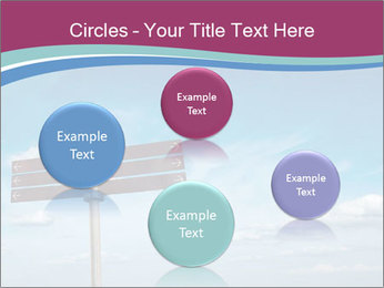 Blank signpost in sky PowerPoint Templates - Slide 77