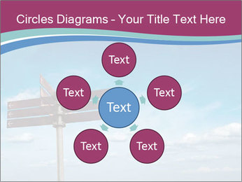 Blank signpost in sky PowerPoint Templates - Slide 78