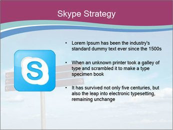 Blank signpost in sky PowerPoint Templates - Slide 8