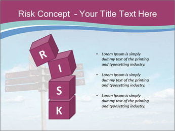 Blank signpost in sky PowerPoint Templates - Slide 81