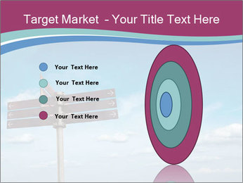Blank signpost in sky PowerPoint Templates - Slide 84