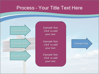 Blank signpost in sky PowerPoint Templates - Slide 85