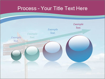 Blank signpost in sky PowerPoint Templates - Slide 87