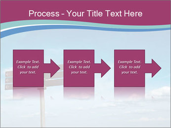 Blank signpost in sky PowerPoint Templates - Slide 88