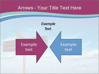 Blank signpost in sky PowerPoint Templates - Slide 90
