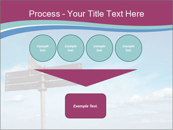 Blank signpost in sky PowerPoint Templates - Slide 93