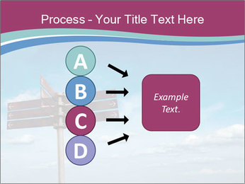 Blank signpost in sky PowerPoint Templates - Slide 94