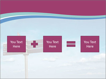 Blank signpost in sky PowerPoint Templates - Slide 95
