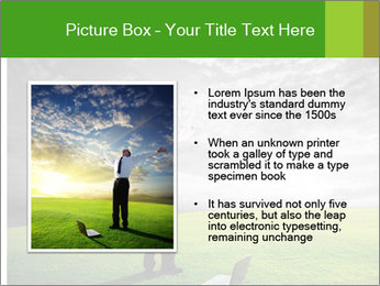 Happy young businessman PowerPoint Template - Slide 13