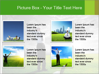 Happy young businessman PowerPoint Template - Slide 14