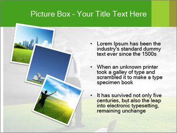 Happy young businessman PowerPoint Template - Slide 17