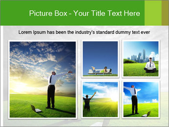 Happy young businessman PowerPoint Template - Slide 19