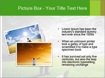 Happy young businessman PowerPoint Template - Slide 20