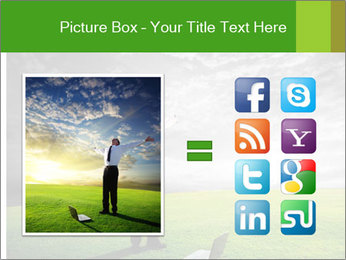 Happy young businessman PowerPoint Template - Slide 21