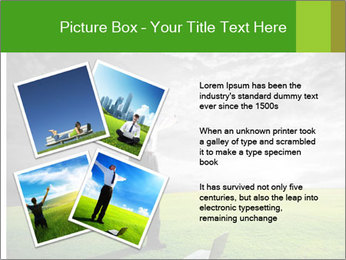 Happy young businessman PowerPoint Template - Slide 23