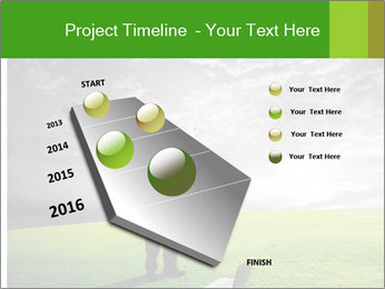 Happy young businessman PowerPoint Template - Slide 26