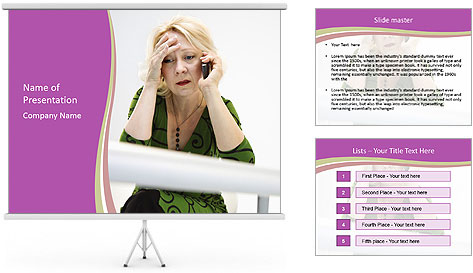 Caucasian middle PowerPoint Template