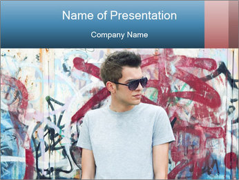 Young man PowerPoint Template - Slide 1