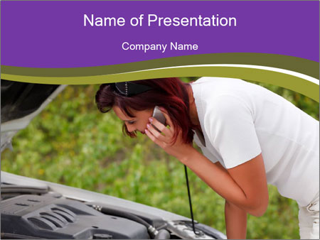 Engine failure PowerPoint Template