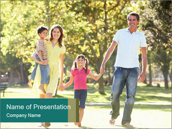 Family Enjoying PowerPoint Template - Slide 1