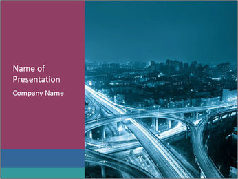 City Scape PowerPoint Template - Slide 1