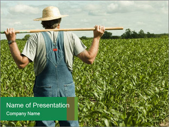 Farmer PowerPoint Template - Slide 1