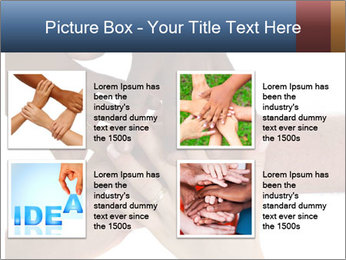 Multiracial hands PowerPoint Template - Slide 14