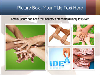 Multiracial hands PowerPoint Template - Slide 19