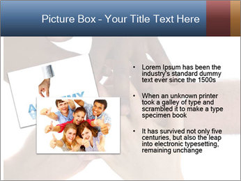 Multiracial hands PowerPoint Template - Slide 20