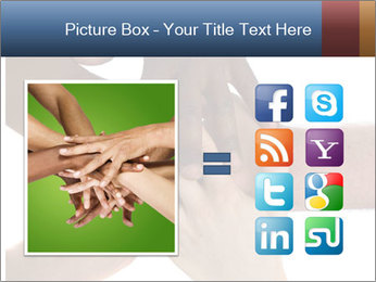 Multiracial hands PowerPoint Template - Slide 21