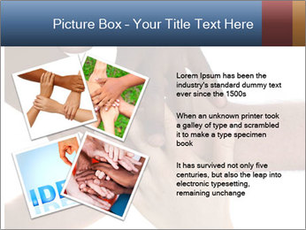 Multiracial hands PowerPoint Template - Slide 23