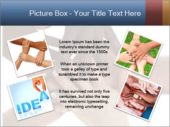 Multiracial hands PowerPoint Template - Slide 24