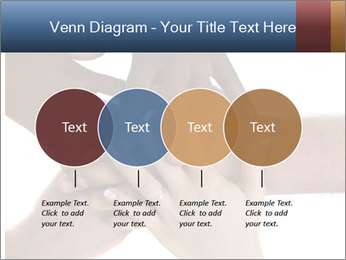 Multiracial hands PowerPoint Template - Slide 32