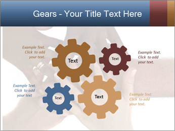 Multiracial hands PowerPoint Template - Slide 47