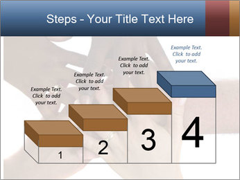 Multiracial hands PowerPoint Template - Slide 64