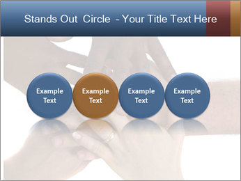 Multiracial hands PowerPoint Template - Slide 76