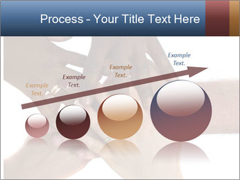 Multiracial hands PowerPoint Template - Slide 87