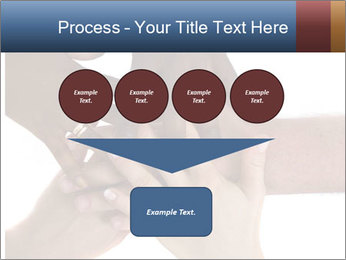 Multiracial hands PowerPoint Template - Slide 93
