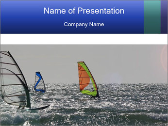 Sailing on the sea PowerPoint Template - Slide 1