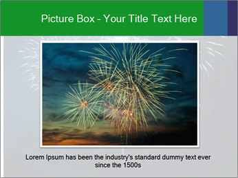 Blue fireworks PowerPoint Template - Slide 15