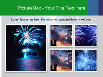 Blue fireworks PowerPoint Template - Slide 19