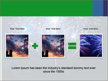 Blue fireworks PowerPoint Template - Slide 22