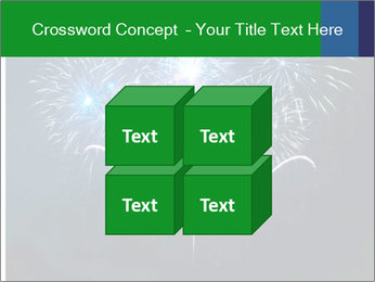 Blue fireworks PowerPoint Template - Slide 39
