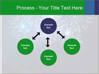 Blue fireworks PowerPoint Template - Slide 91
