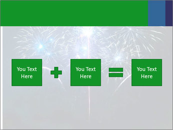 Blue fireworks PowerPoint Template - Slide 95