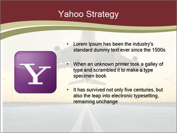 Airplane at takeoff PowerPoint Templates - Slide 11